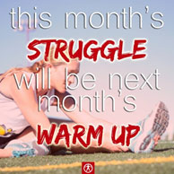This months struggle will be next months warm-up