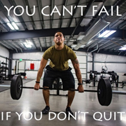 You can not fail if you do not quit
