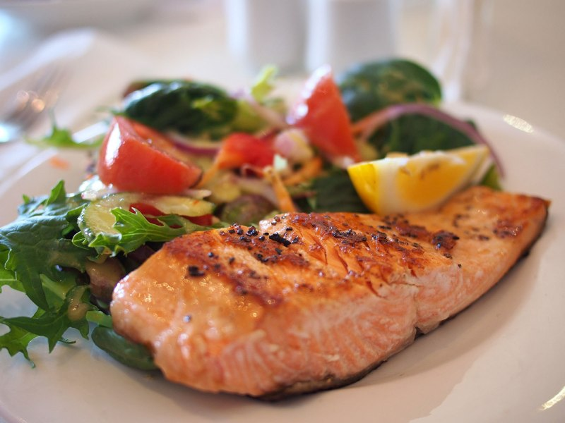 54 4 power food must haves salad baked salmon fillet with lemon honey