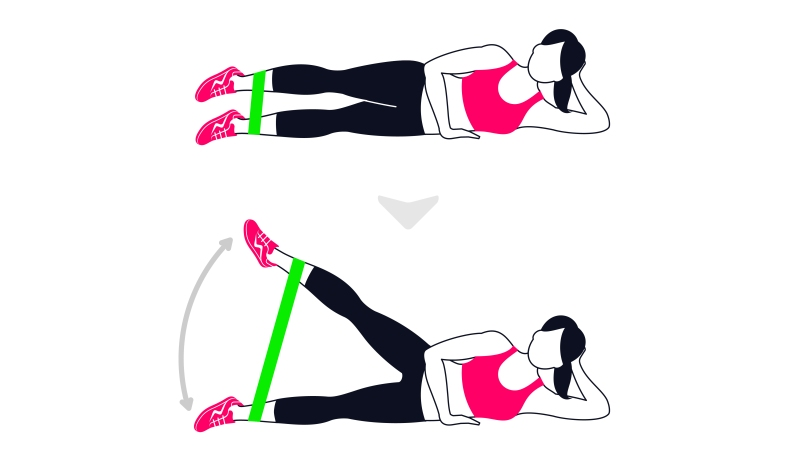clamshell resistance band workout