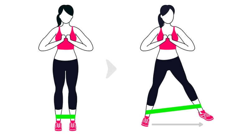 lateral resistance band walk