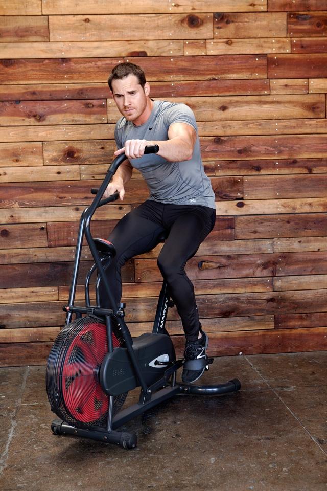 Male Model using the NS-1000 Fan Bike / Air Bike